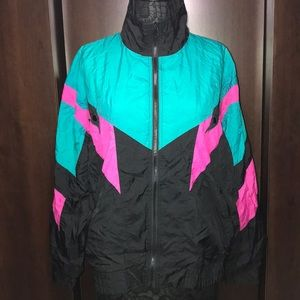 VTG Retro Abstract Windbreaker